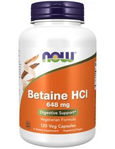 NOW Betaine HCI, 120 Capsules